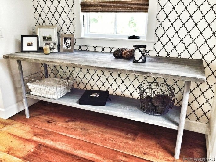 Elegant Large Console Table Farm Style