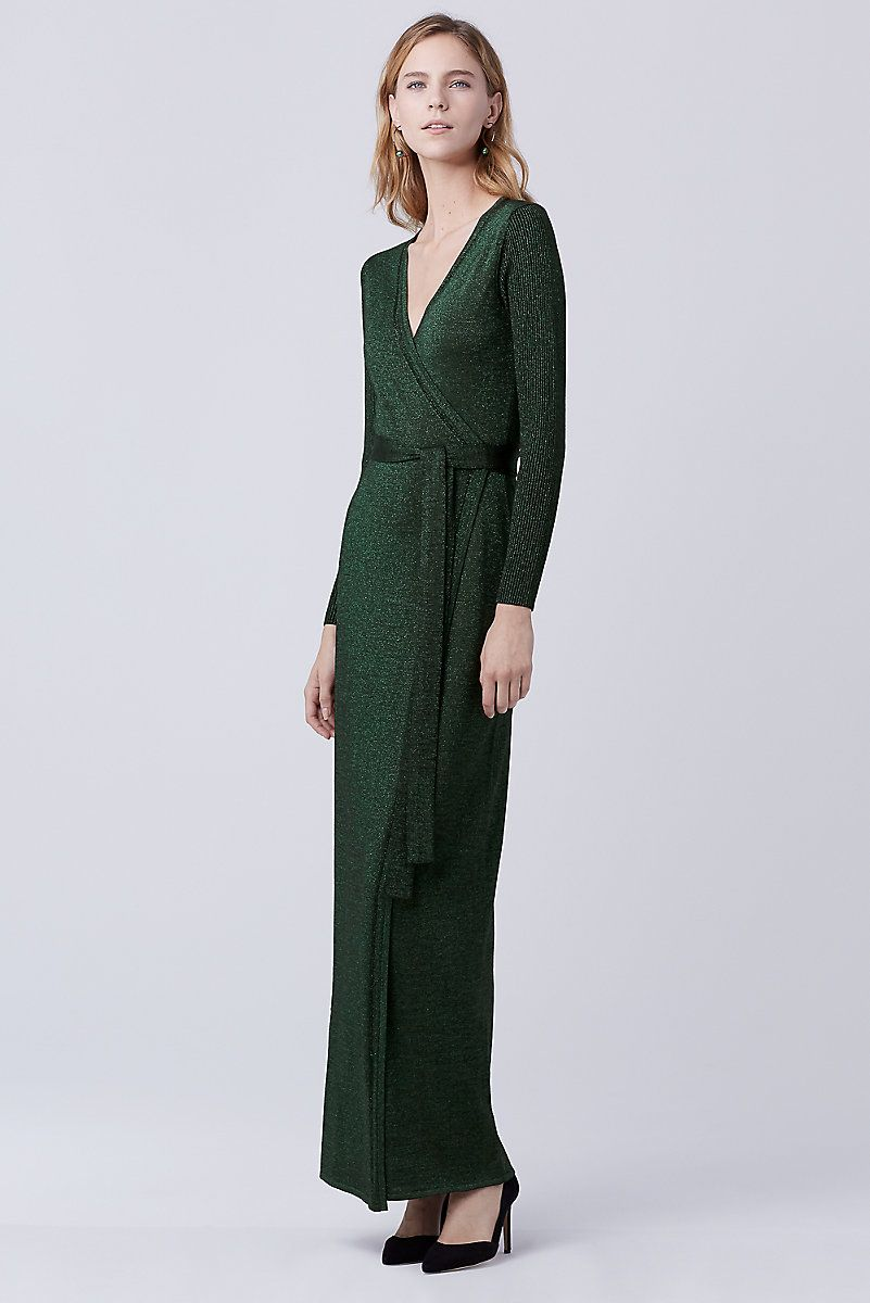 This metallic knit maxi is the ultimate in effortless evening wear. Wear with your favorite heels and go.