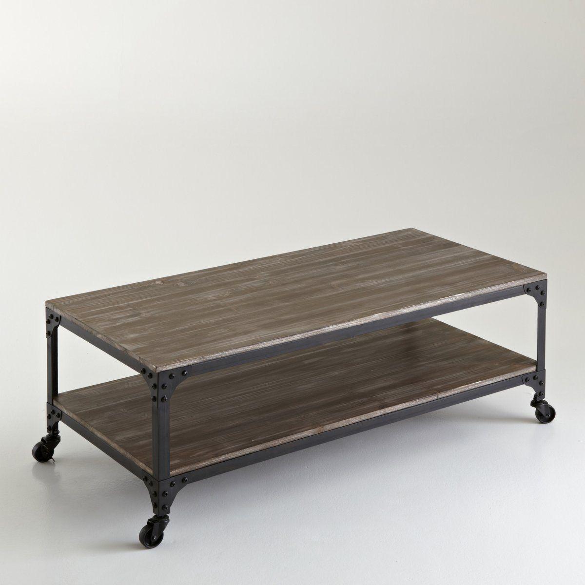 Table Basse A Roulettes Style Indus 2 Modeles Hiba La