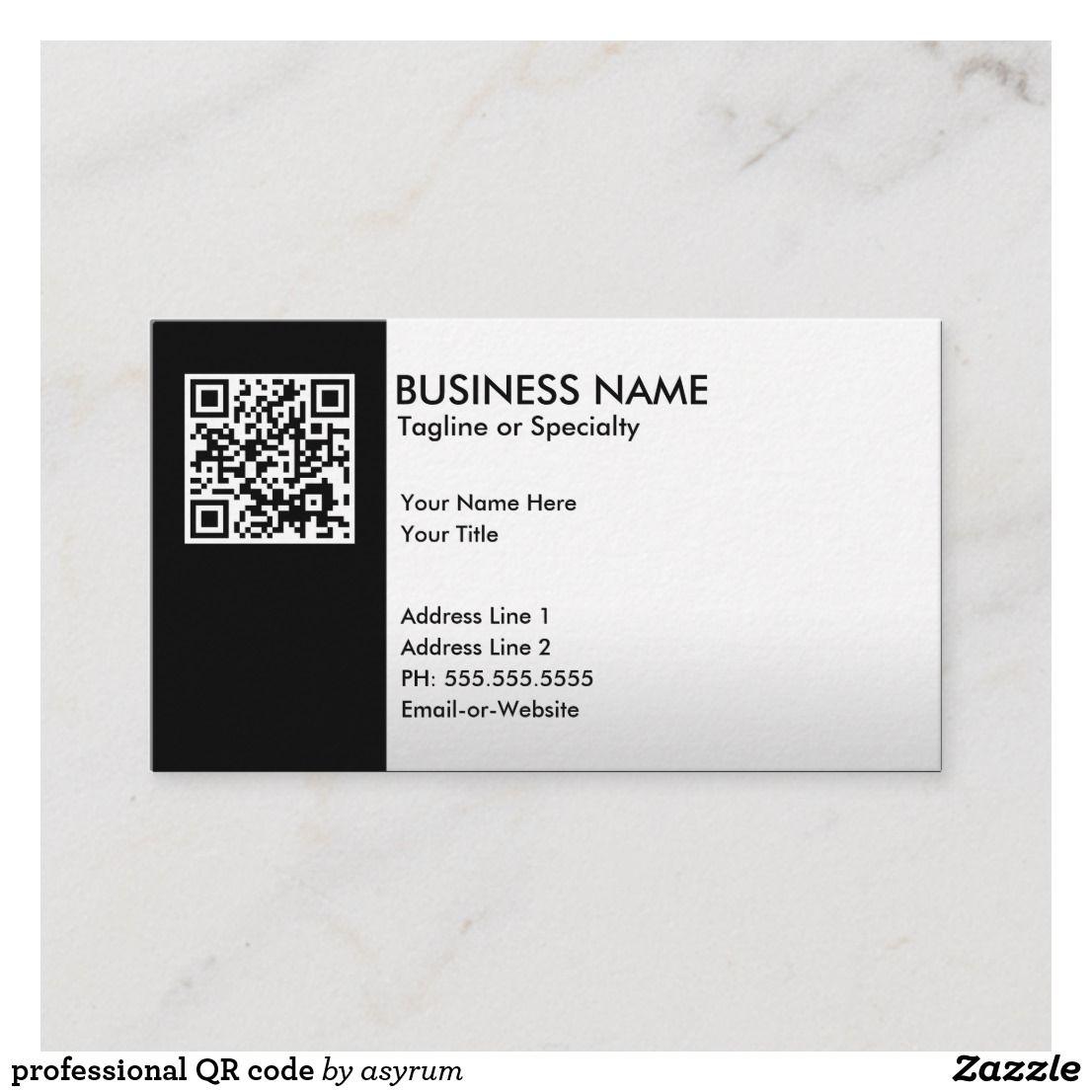 Professional Qr Code Business Card Zazzle Com Qr Code Business Card Metal Business Cards Business Cards