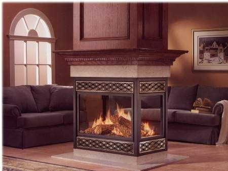 See Through Center Of Room Fireplaces Small See Through Gas