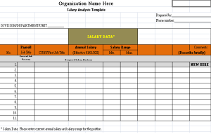 Salary Analysis Template  Salary Doc    Template