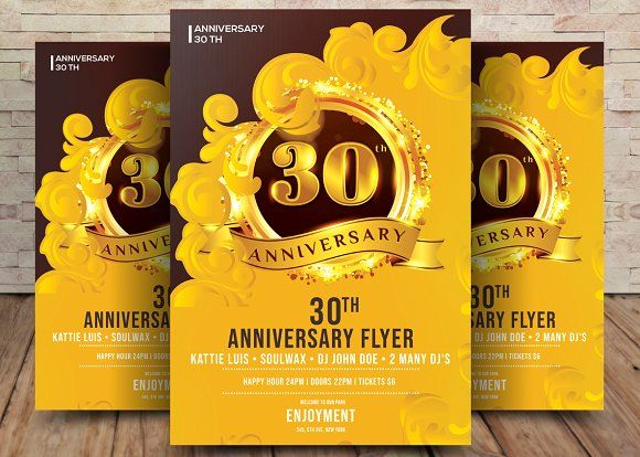 30th Anniversary Invitation Card By Graphicforest On