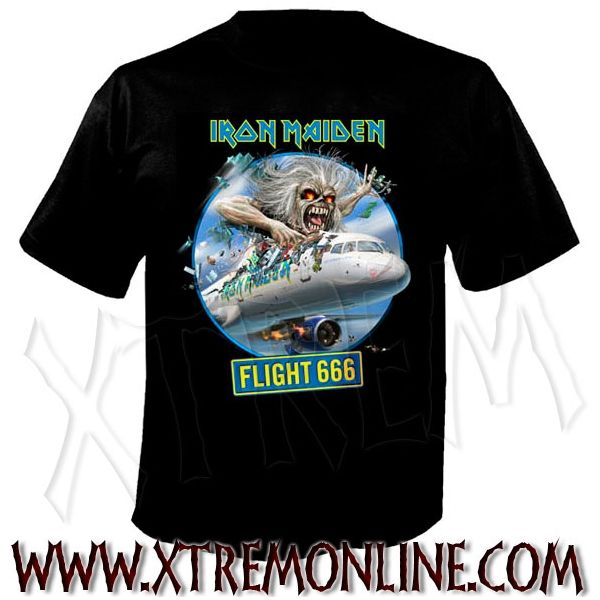 Camiseta de Iron Maiden - Flight 666.