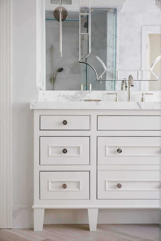 Dream Master Bathroom With Custom Designed Furniture Style Vanity