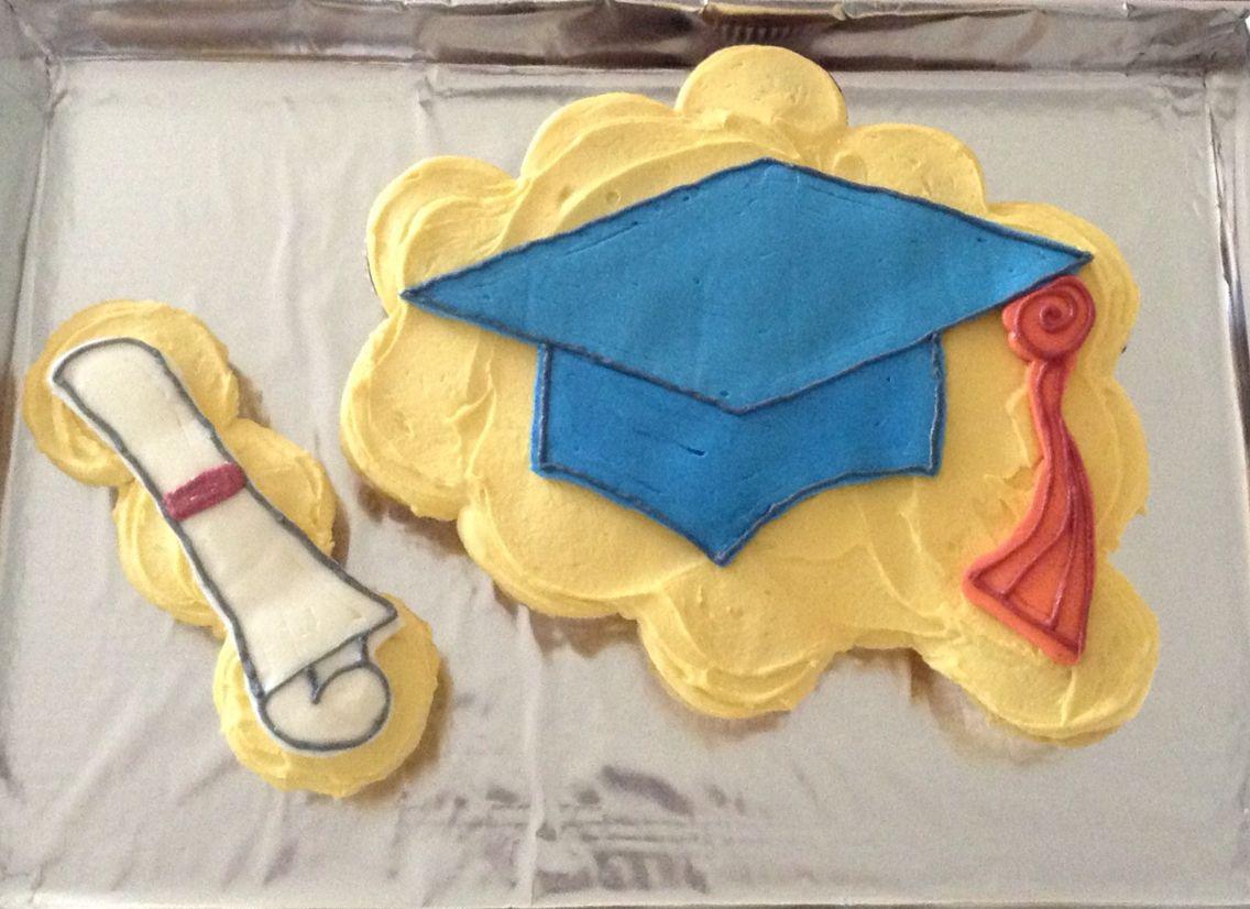 Graduation Cap Tassel Pull Apart Cupcake Cake Graduation Cupcake Cake Graduation Cupcakes Diy Graduation Cupcake Toppers