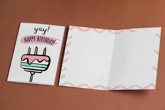 Free Empty Birthday Card Mockup In Psd Birthday Card Mockup Psd