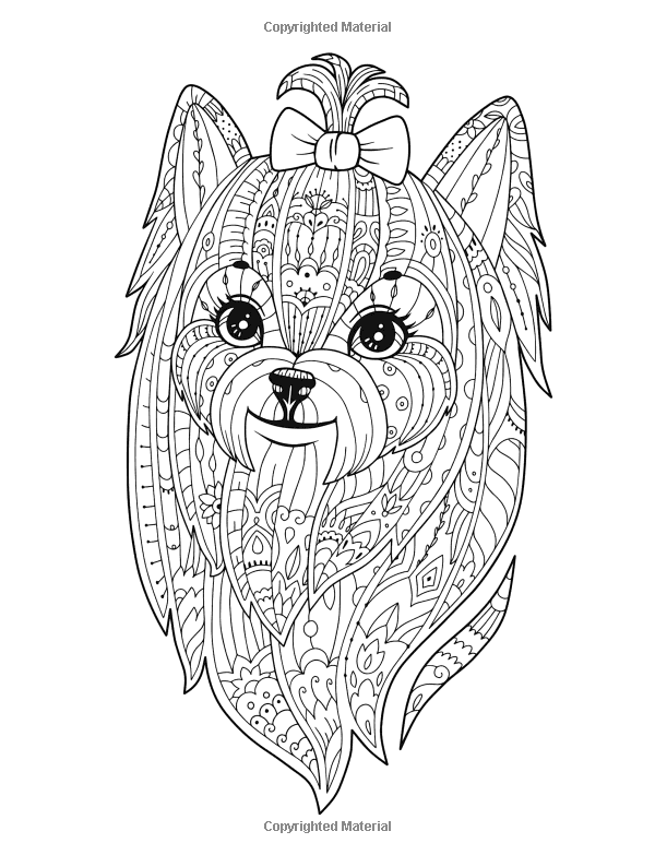 Small Dog Breeds Coloring Book Yorkshire Terrier Shih Tzu Pomeranian Chihuahua Pug Silky Te Dog Coloring Page Animal Coloring Pages Animal Coloring Books