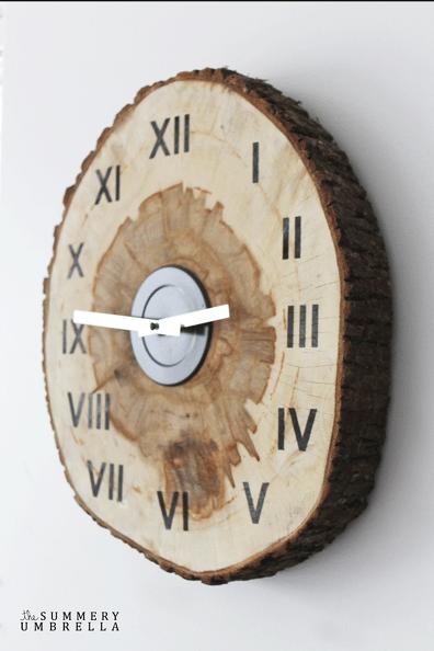 Diy Wood Slice Clock Wood Slice Crafts Wood Slice Decor Wood Slices