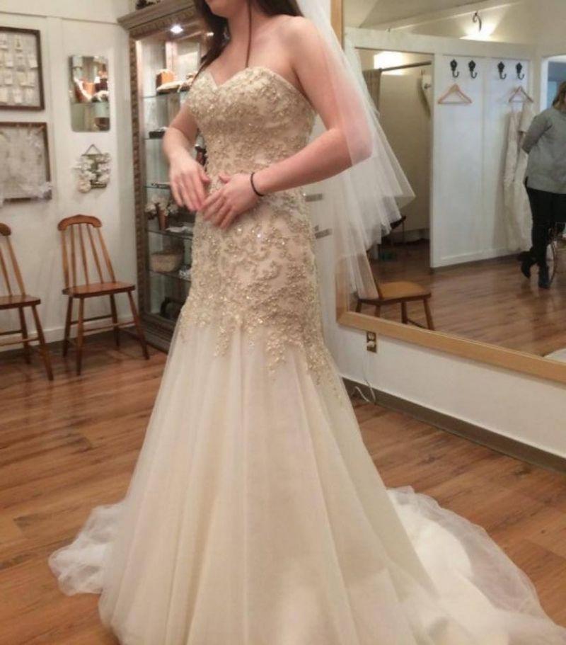 Non white wedding dress weddingbee dress