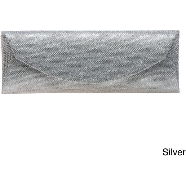 J. Furmani Metallic Simple Elegance Clutch ($35) ❤ liked on Polyvore featuring bags, handbags, clutches, silver, silver evening bag, silver purse, woven handbags, evening handbags and white purse