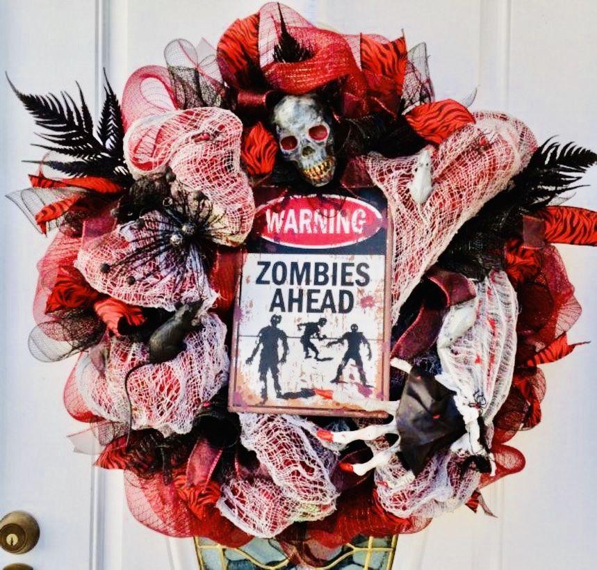 Scary Halloween Wreath, Diy Halloween