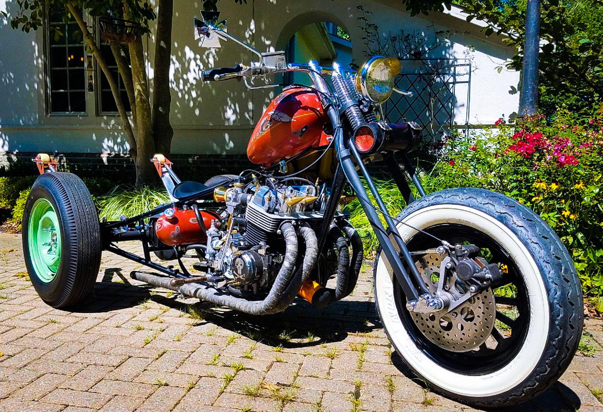 1976 honda cb750 chopper rat trike price 8750 or best