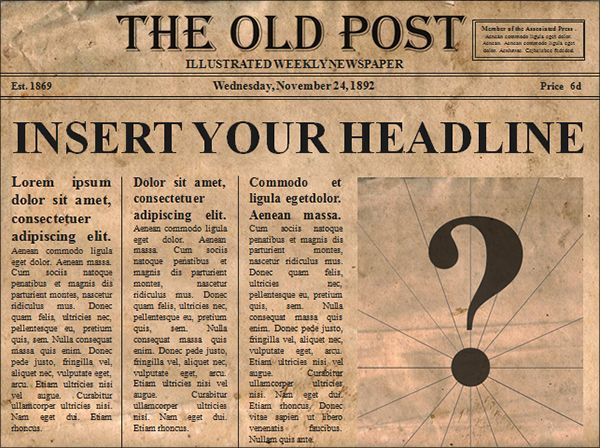 Love It Editable Old Newspaper Template Opens In