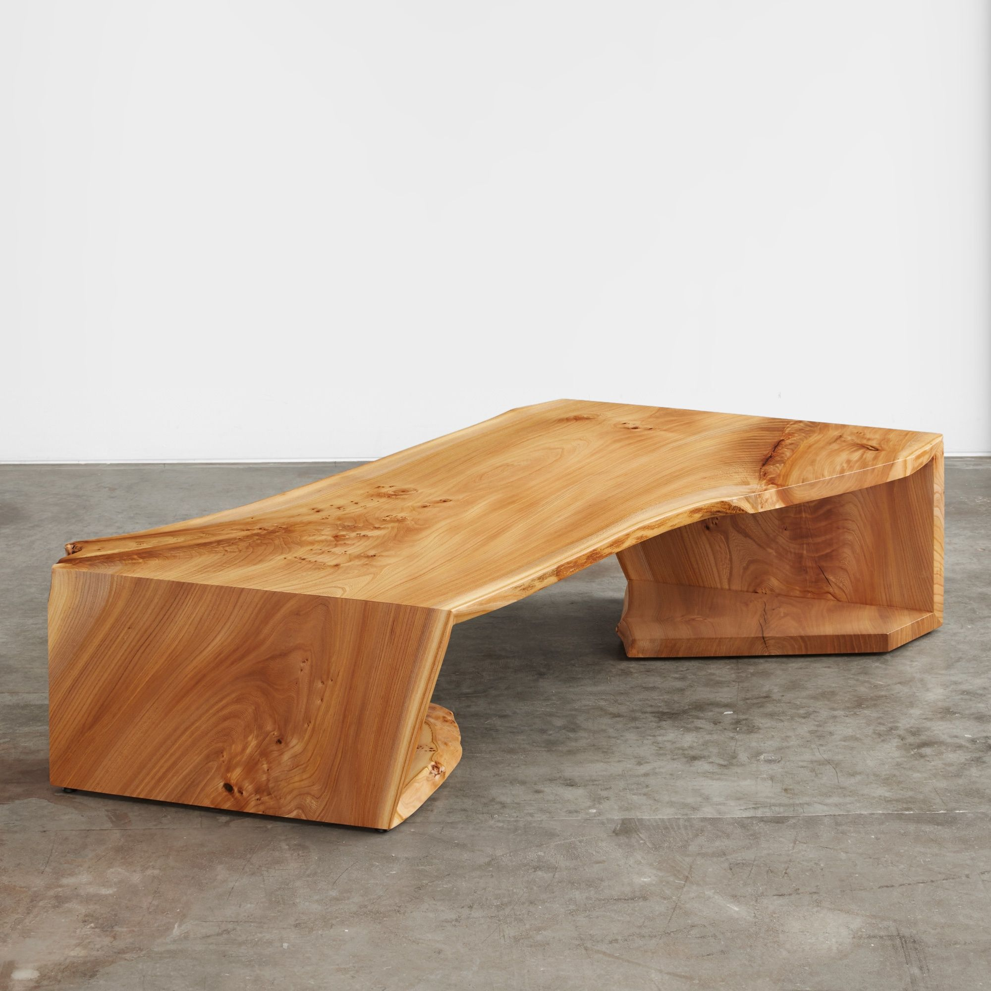 English elm multi fold coffee table
