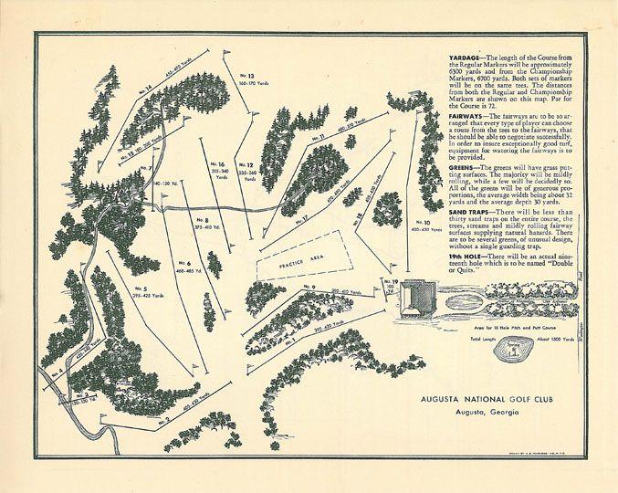 12+ Augusta national golf club layout map info