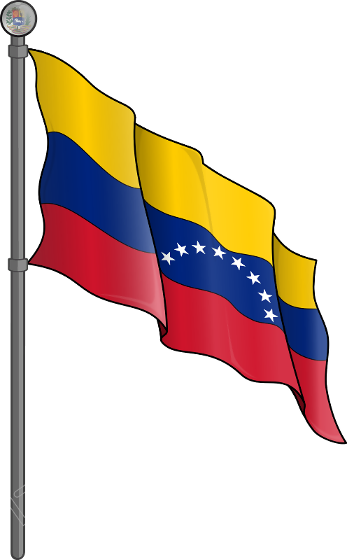 Vector Bandera De Venezuela Png Transparente