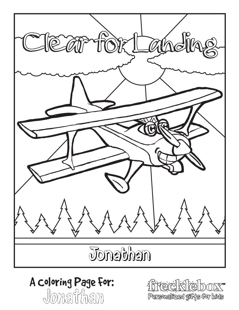 Coloring pages for underground railroad - Airplane Coloring Page