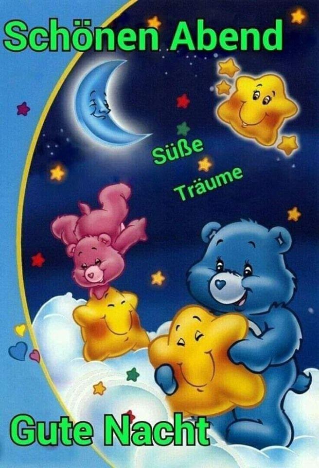 Schönen Abend euch Bilder   Gute nacht, Nacht und Zeichentrickfilme