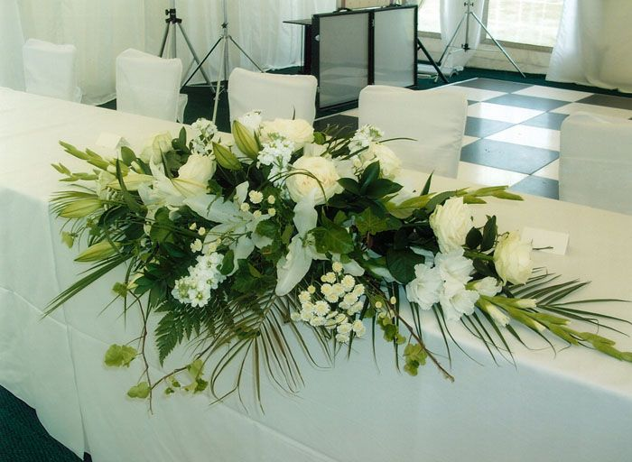 Wedding Top Table Flower Arrangements