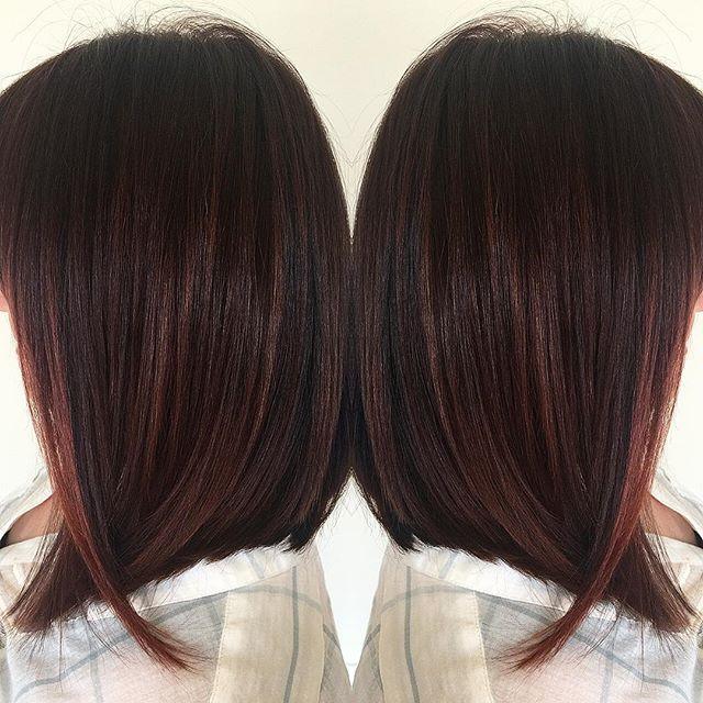Painted mulit-tonal cherry lob✌️
