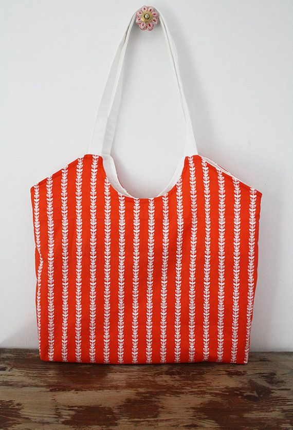 Market tote sewing pattern PDF instant download by SoHappyInRed ...