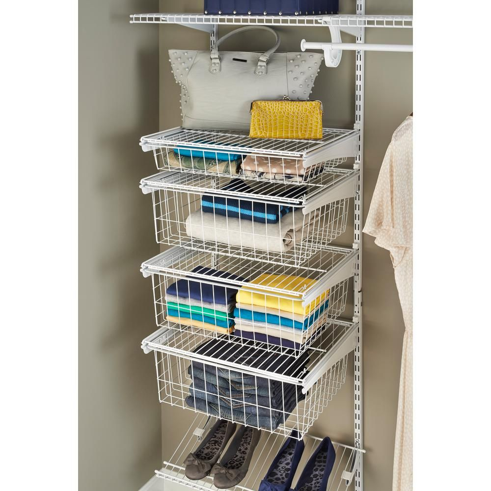 Beau ClosetMaid ShelfTrack 4 Drawer Kit In White 2815   The Home Depot