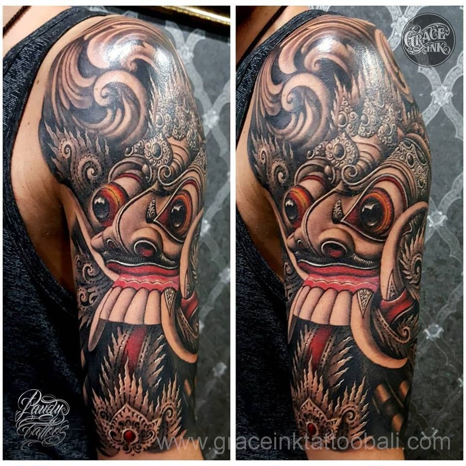 Rangda Tattoo Tattoos Balinese Tattoo Mask Tattoo