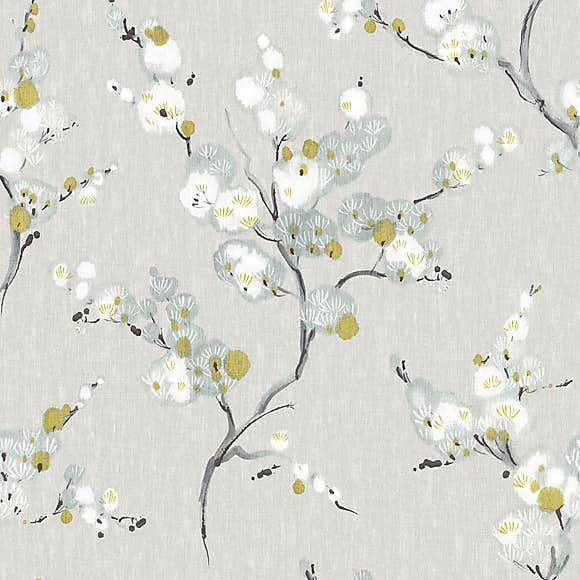 Nuwallpaper Mirei Grey Self Adhesive Wallpaper Nuwallpaper Wallpaper Samples Blue Floral Wallpaper
