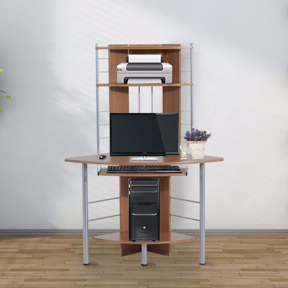 Computer Desk With Shelf Home Office Furniture Printer Stand Gaming Sy