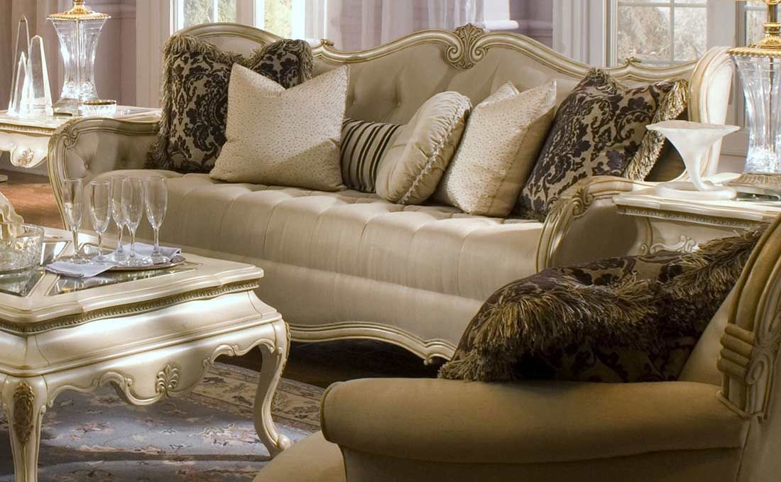 Plush Luxurious Contemporary Design Settee Furniture Home Gt Gt Aico Furniture Gt Gt Aico Living