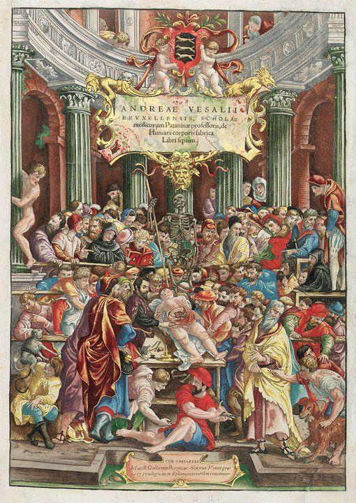 cover of Andreas Vesalius\' De humani corporis fabrica from 1543 ...