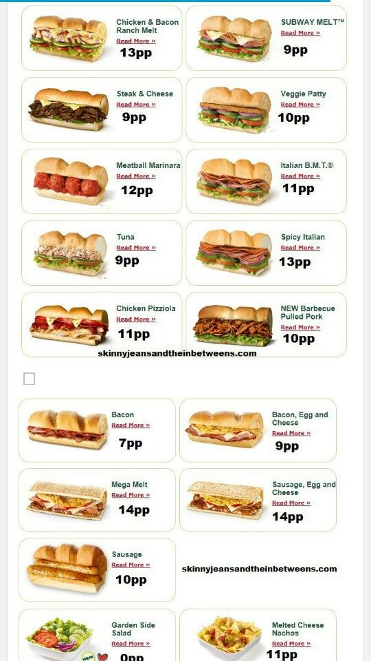 subway points weight watchers pinterest slider sandwiches healthy treats and weight. Black Bedroom Furniture Sets. Home Design Ideas