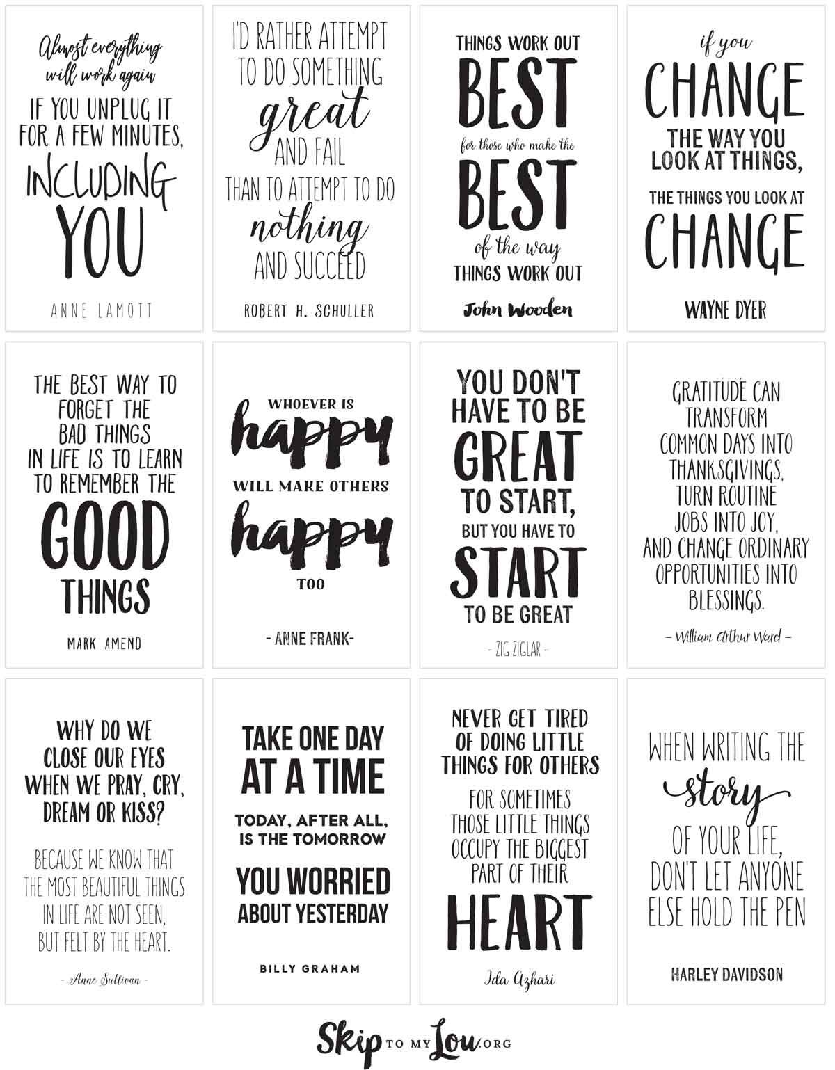 Amazing Life Quotes For Inspiration! {FREE PRINTABLE CARDS