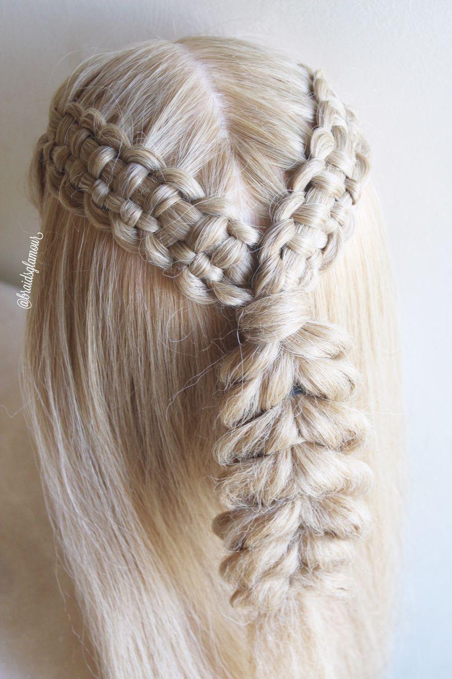 lace zipper braids pull