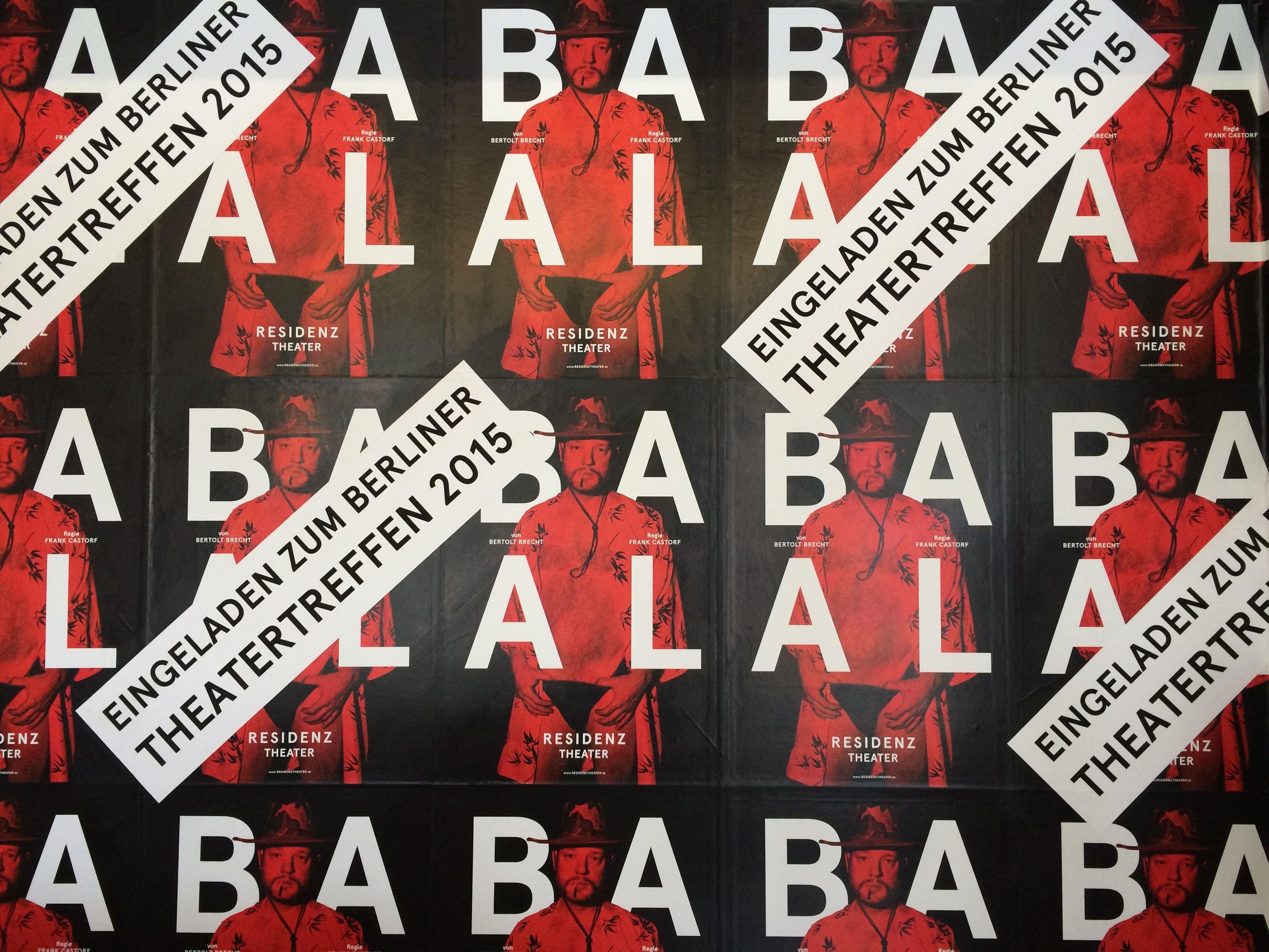 Theatertreffen 2015 Mit Baal Residenztheater Theatertreffen Baal Brecht Plakat Rot Resi Game Artwork Video Games Artwork Video Game Covers