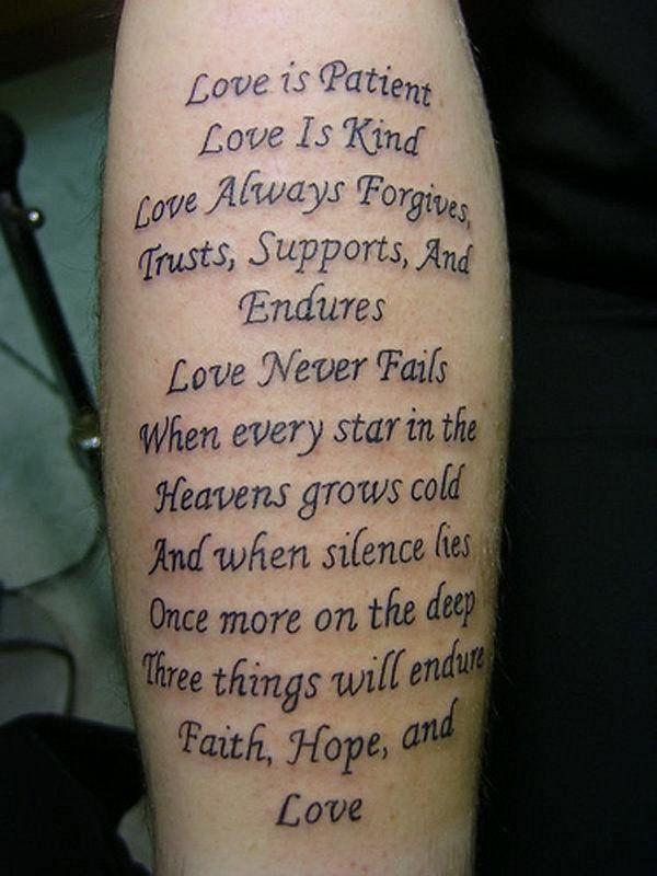 35 Inspiring Love Tattoo Ideas Tattoos Love Scripture Tattoos