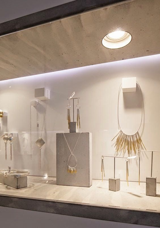 Modern Minimalist Jewelry Display Ideas is part of Minimalist jewelry display, Jewellery display, Jewelry store design, Diy jewelry display, Jewlery display, Jewerly displays - A cliched expression such as  less is more  is definitely overused, but holds so much truth  In terms of design elements, sometimes a minim