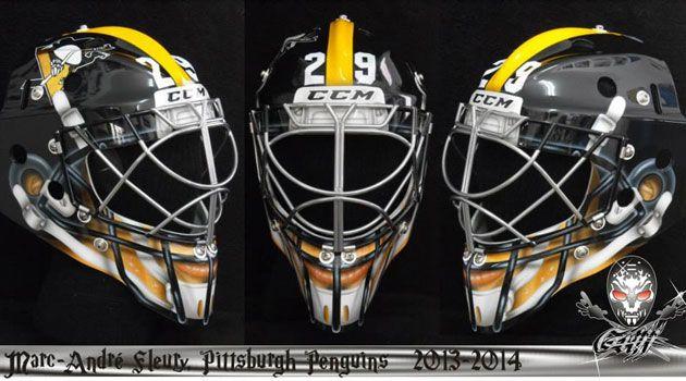 1a44361996f Marc-Andre Fleury s helmet will make him look like a Steeler. Gotta love  the  Burgh!