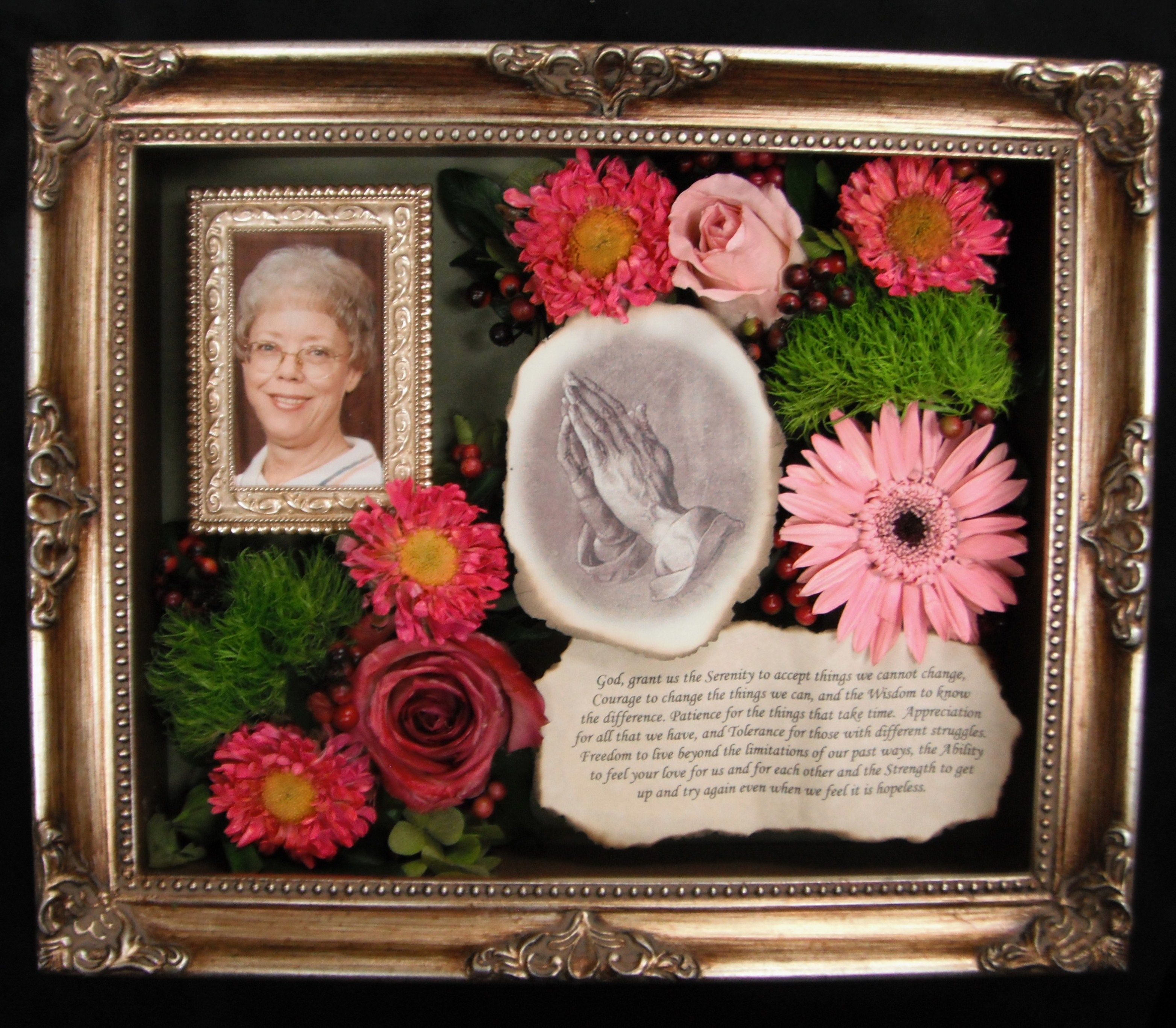 Preserved Memorial Flowers In Shadow Box Memorial Flowers Shadow Box How To Preserve Flowers
