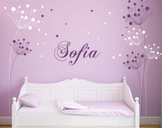 Etiqueta elegante flores moderno con decoración de mariposas pared sticker etiquetas home por decalisland estilo