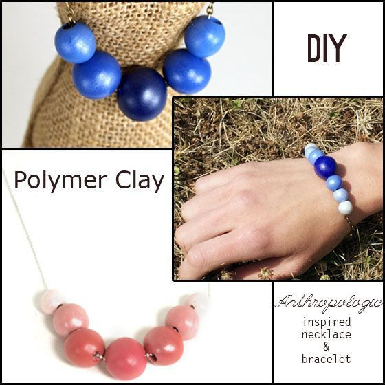 DIY Anthropologie Inspired Polymer Clay Necklace and Bracelet