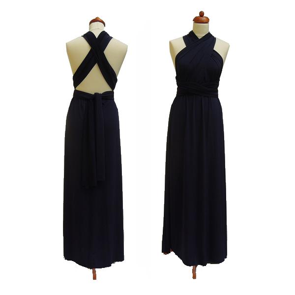 e8f3796e8e7c Dlouhé tmavě modré šaty. Variabilní šaty Convertibles jsou ideální na  svatbu