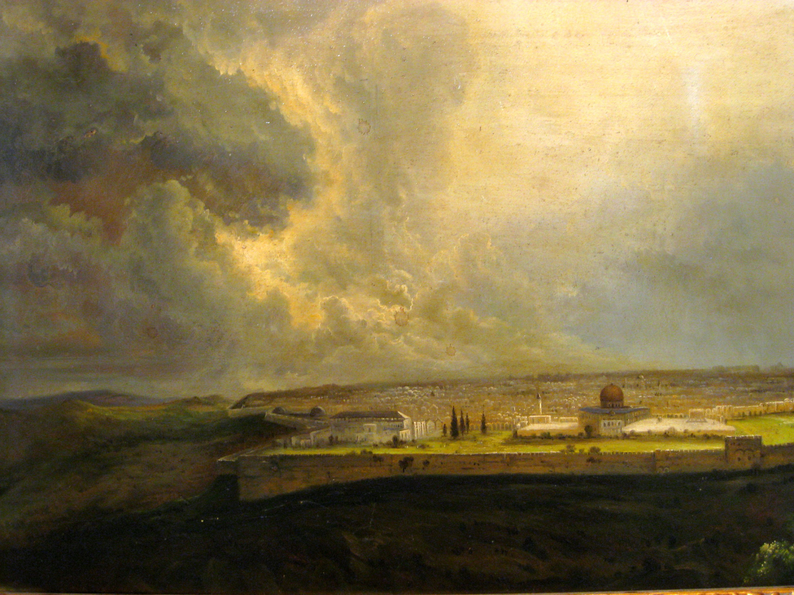 Image detail for -items artist products frederic edwin church jerusalem temple mount
