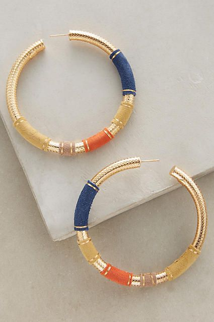5276f269c0bffb Maoro Suede Hoops - anthropologie.com | J'ADORE JEWELS | Jewelry ...