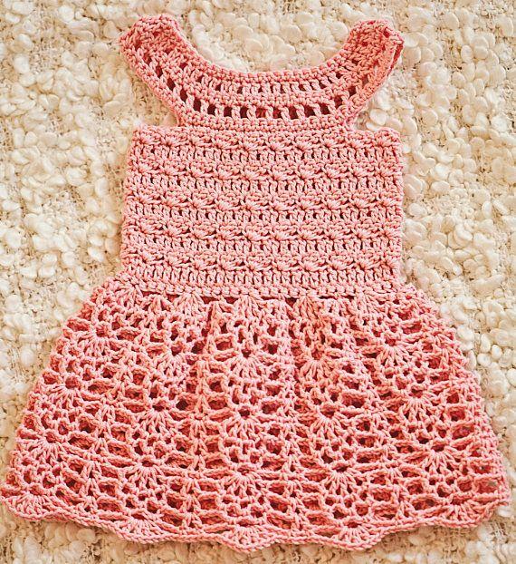 Crochet dress PATTERN - Peony Lace Dress (sizes up to 7 years ...