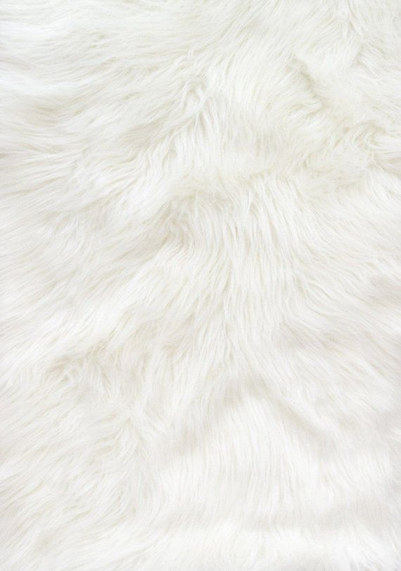 Shaggy White Long Pile Faux Fur Fabric By The Yard 60 Wide Faux Fur Fabric Wallpaper Fur Fur Background