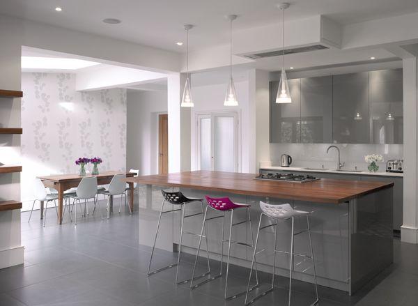 Roundhouse grey high gloss bespoke kitchen   Grey kitchen ...
