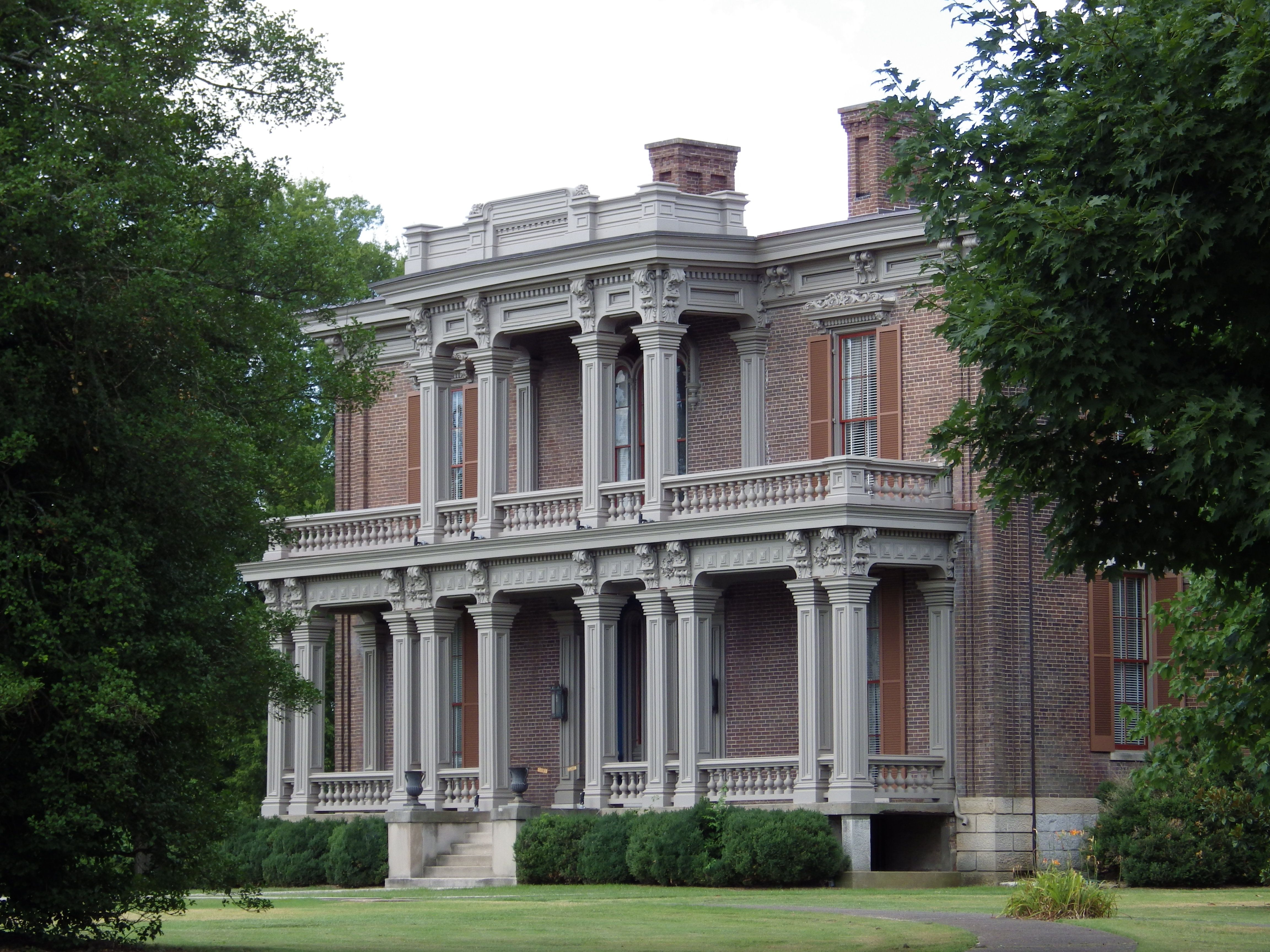Two Rivers Mansion Built by David McGavock in 1859. The
