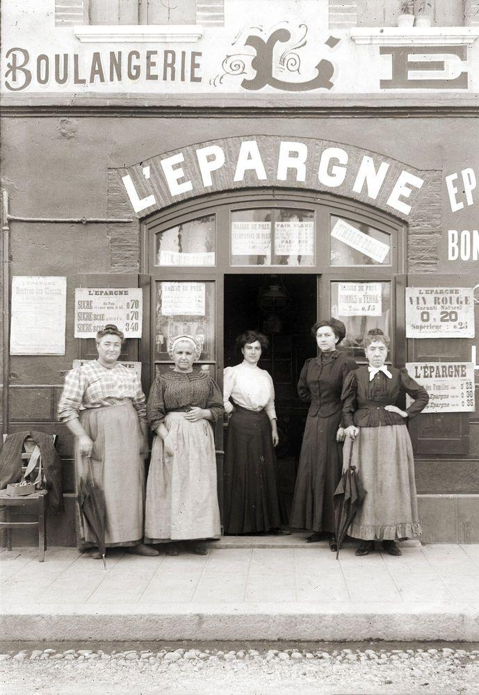 Ancien Commerce Boulangerie Epicerie L Epargne Retirage Photo